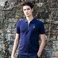 Campamento de pioneros jóvenes camisa de polo ocasional de la camisa de polo de los hombres para hombre slim fit camisa de polo sólido jerseys marca clothing620304
