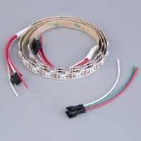 1 м 60 светодиодный Новое поступление 2017 года WS2812B 5050 RGB Светодиодные ленты свет Водонепроницаемый адресуемых белый корпус DC 5 В