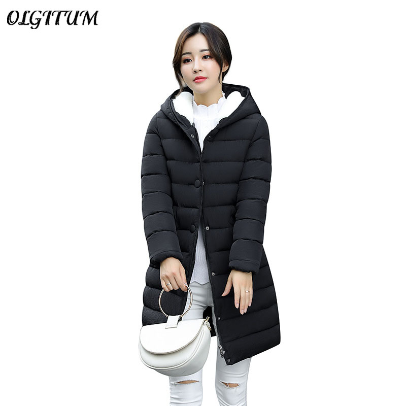 Hot Sale 2017 New style Winter women coat High-quality Fashion warm long section Outwear Light Cotton coat hooded thick Coat newear 2017 new fashion coat women winter jacket coat womens medium long cotton warm coat outwear high quality hot sale
