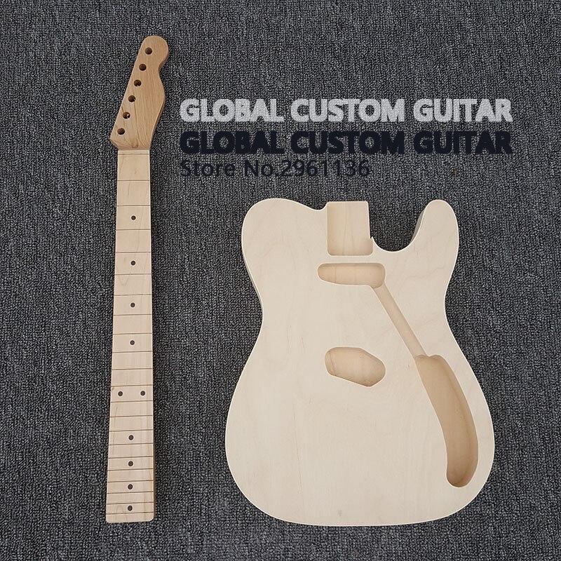 Guitare électrique 2017 haute qualité en palissandre inachevé, sans pièces de guitare, guitare bricolage, vraies photos, livraison gratuite