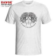 Leave Me Alone I Am Poison T Shirt Medusa Gorgon Novelty Creative Hip Hop T-shirt Skate Rock Casual Men Women Cotton White Tee цена и фото