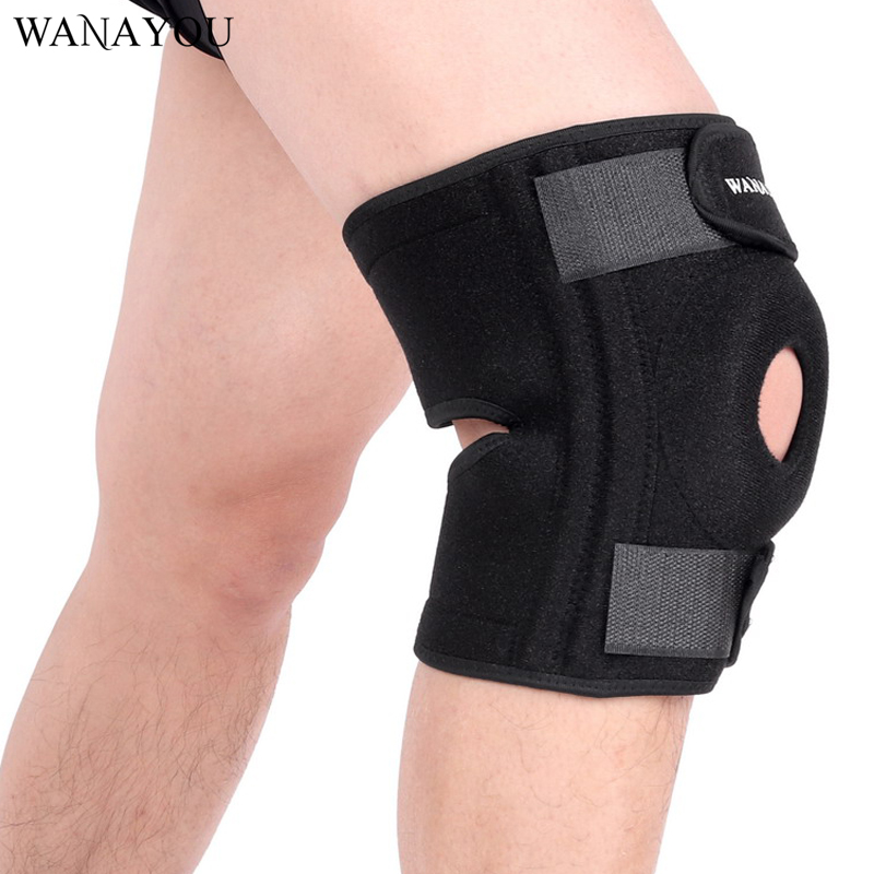 WANAYOU Professional Sport Knee Pad With Spring Support Brace Patella Leggings Outdoor Basketball Cycling Running Knee Protector