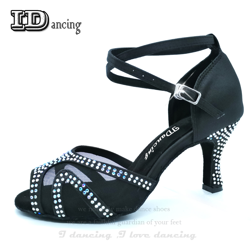 Baskets cabrées femme danse Latino danse chaussures pour filles strass salle de bal chaussures latines dames Salsa chaussures couleurs virous
