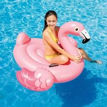 142CM Giant Uppblåsbara Flamingo Pool Float Toy Uppblåsbara 57558