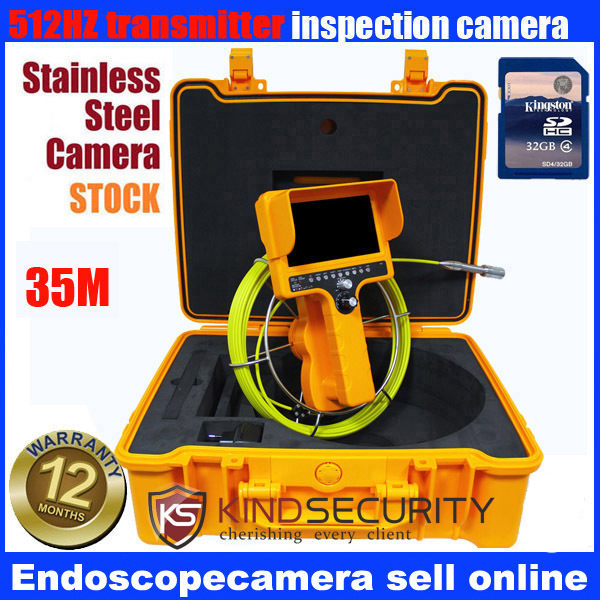 35m 7TFT DVR Camera Video Inspection Endoscope Pipe Snake Scope Borescope IP67 5year warrany