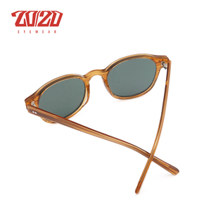 Image 5 - Classic Polarized Men Sunglasses Women Brand Designer Acetate Round Sun Glasses Driving Shades Unisex Eyewear Oculos AT8001