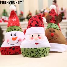 FUNNYBUNNY Cute Santa Claus Snowman Elk Christmas Hat