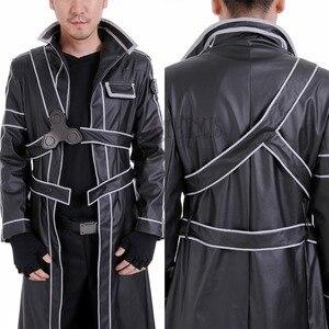 Image 2 - Athemis ソードアートオンラインキリト革コスプレ衣装カスタムメイドジャケットやアクセサリー