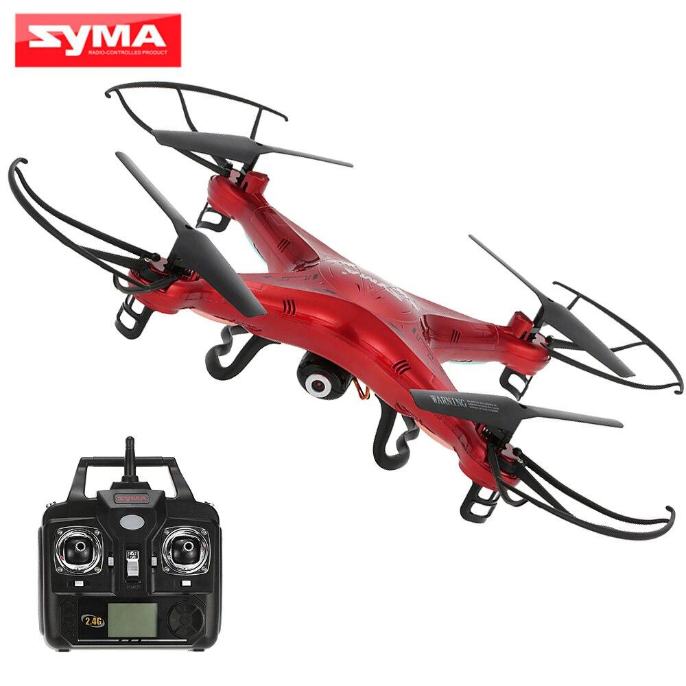 SYMA X5C 2MP HD caméra Drone FPV hélicoptère 2.4 GHz 4CH 6 axes Gyro RC quadrirotor avec 4 GB TF carte Syma télécommande jouets-in Hélicoptères télécommandés from Jeux et loisirs    1