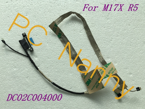 Old Original M17X R5 flex cable VAS00 LVDS CABLE EDP DC02C004000 0N392W N392W tested