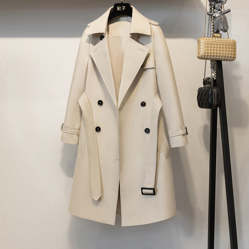 Long Casual Double Breasted  Coat  1