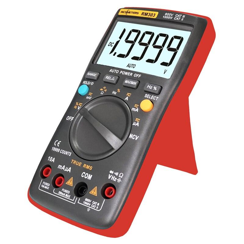 RM303 True RMS 19999 Counts Digital Multimeter NCV Frequency 200M Resistance|Multimeters|   - AliExpress