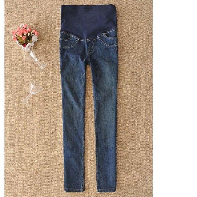 2017 новая весна материнства беременных женщин джинсы карандаш брюки. мода Тонкий беременных женщин живота джинсы