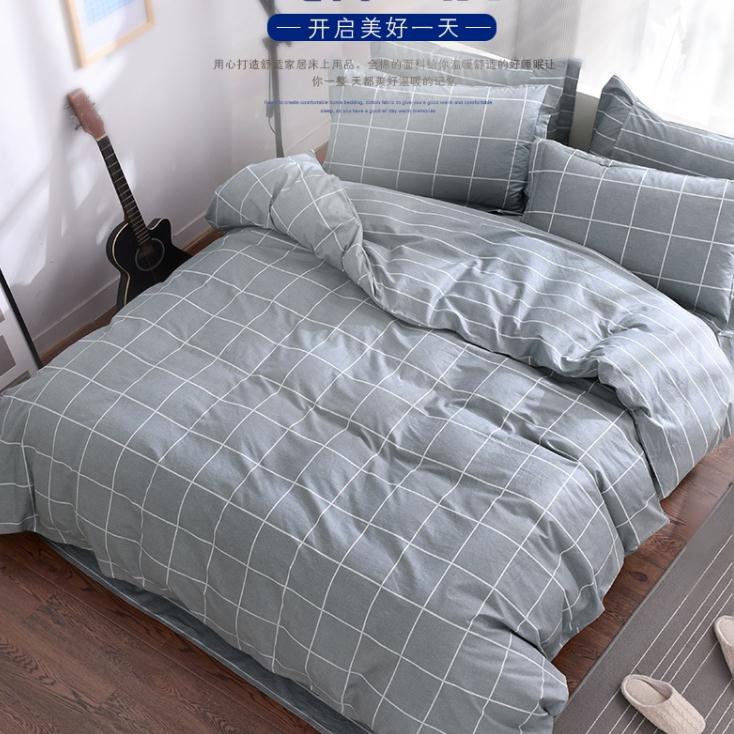 100 Cotton Quilt Cover Soft Printed Cotton Plaid Double
