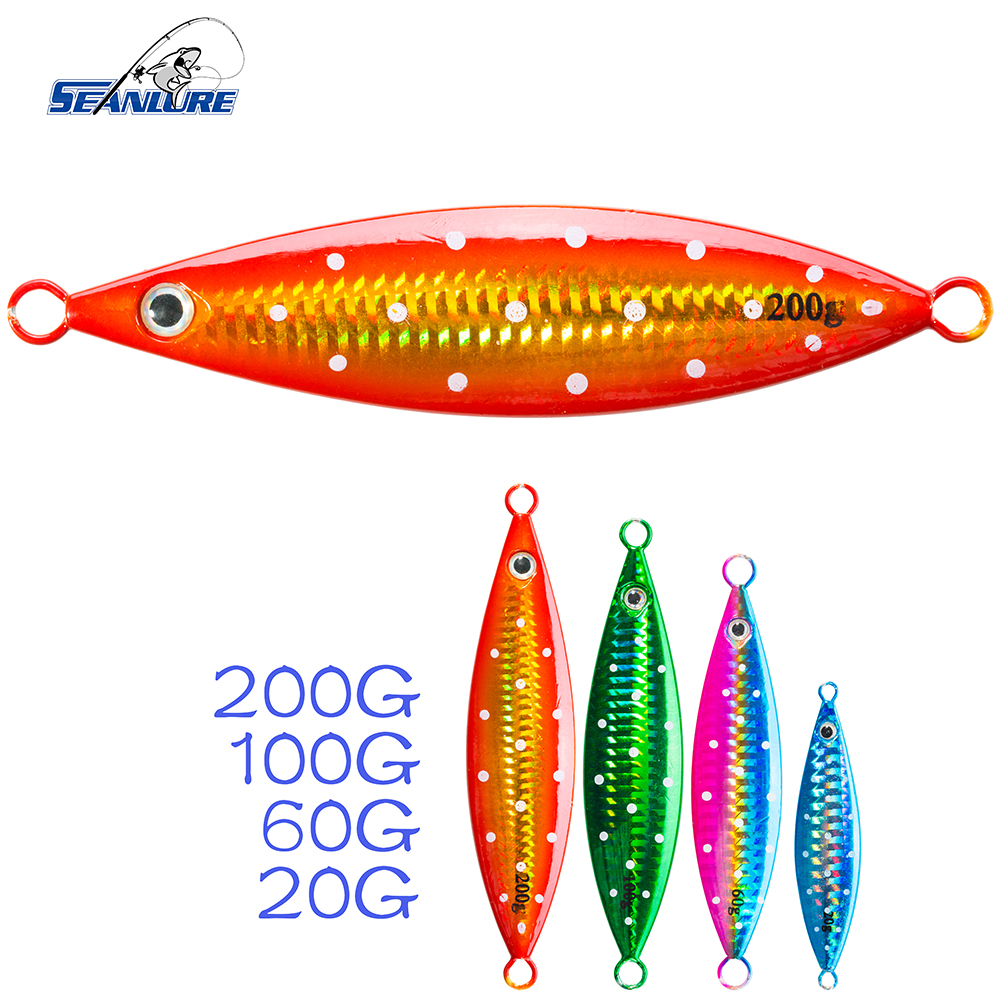 Seanlure deep sea lead jig hook 1pcs pack 20 200g fishing for Deep sea fishing lures