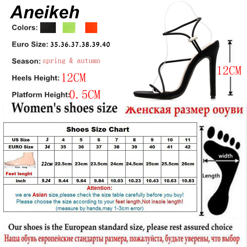 HTB1dK qaZvrK1Rjy0Feq6ATmVXaO Aneikeh 2019 New Fashion Sandals Ankle Strap Cross-Strap Woman Sandals 12CM High Heels Narrow Band Slip-On Sandals Dress Pumps