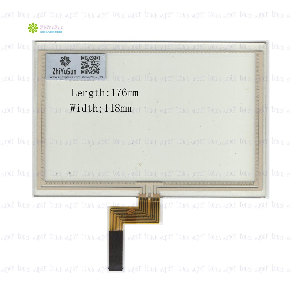 ZhiYuSun KDT-5175 7.5Inch 176*118 Resistive TouchScreen Panel Digitizer 176mm*118mm for GPS CAR this is compatible ceramic ozone generator 220v 110v 7g double integrated long life ceramic plate ozonizer air disinfection