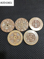 7cm In ancient China the Qing emperors 5 emperors commemorative coins big coins Collection home decoration metal crafts COINS