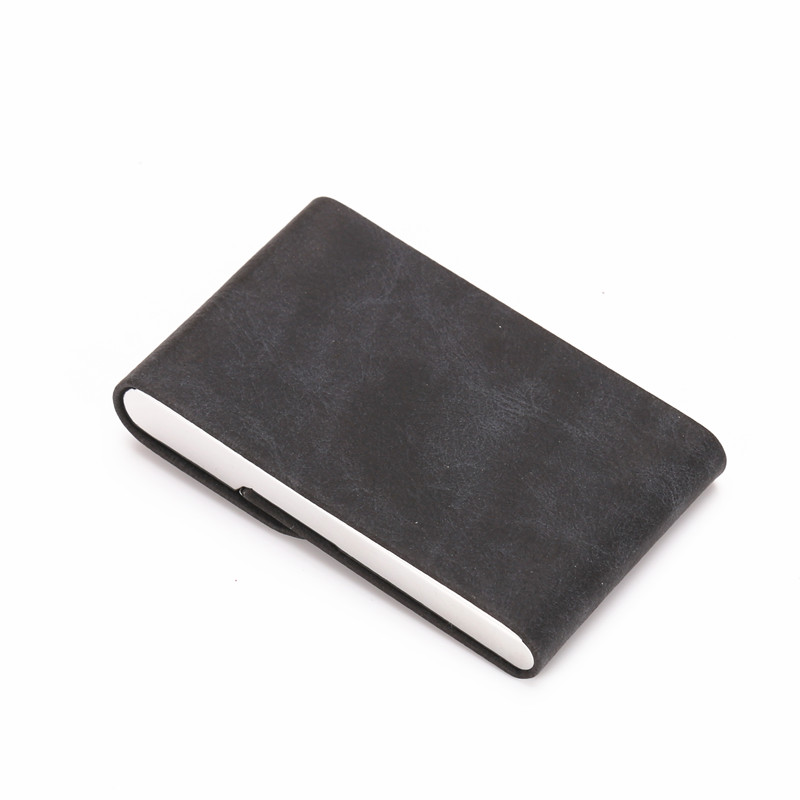 QOONG 2019 Travel Card Wallet Big Capacity Men Women Credit Card Holder Business ID Card Case Metal Wallet Cardholder Carteira in Card ID Holders from Luggage Bags
