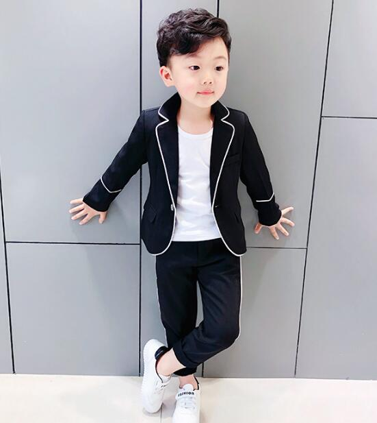 Boys Formal Costumes Suits for Weddings Baby Boys Blazer Pants 2pcs Tuxedo Kids Party Dress Clothing Sets 2 8Y