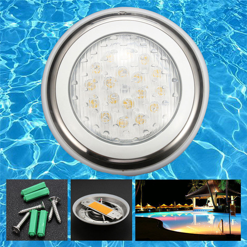5pcs rgb dmx underwater smaller wall mounted led pool lights piscina for pools and spas dmx512 controller power supply dc24v 18W Stainless Steel Swimming Pool Lighting RGB Pool Lamp Disco Party Spa Bath Pond Pool Lights Piscina LED Underwater light Pond