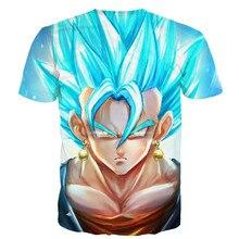 Dragon Ball Cartoon Anime 3d Print Short sleeves Men's T-shirt