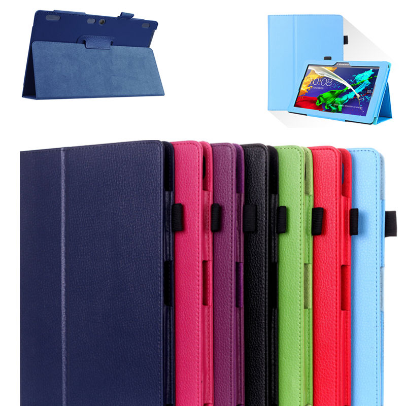 For Lenovo Tab 10 Tab10 TB-X103F 10.1 Cover Case Protective PU Leather TAB 3 10 Plus 10. ...