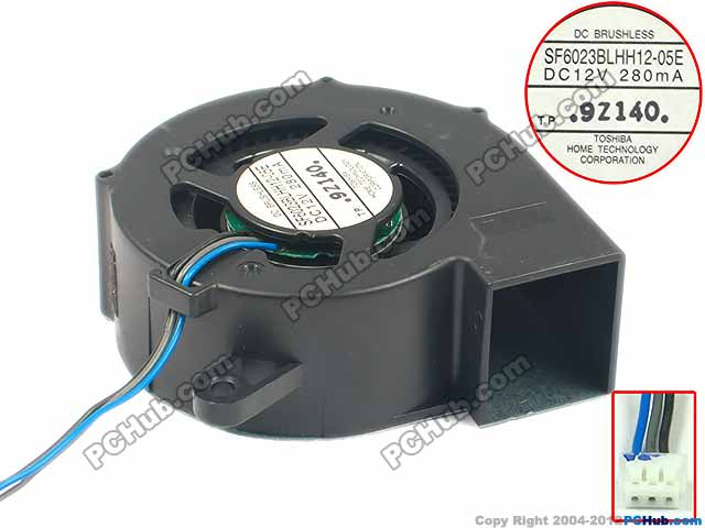 Free shipping for SF6023BLHH12-05E DC 12V 280MA, 60x60x23mm 3-wire 3-pin connector Server Blower fan ripani 6023 mm rip 00004 ecru