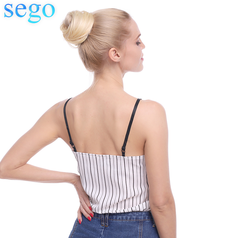 Sego 23g Malaysia Human Hair Straight Donut Chignon Pure Color Non-Remy Rubber Band Chignon 100% Human Hair 7 Colors Avaliable