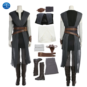 ManLuYunXiao New Star Wars 8 Cosplay Costume Rey Costume Women Halloween Rey Cosplay Costume For Adult Full Set With Boots