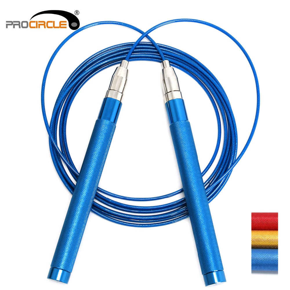 Procircle Self-Locking Speed Jump <font><b>Rope</b></font> Adjustable <font><b>Skipping</b></font> <font><b>Ropes</b></font> Non-Slip Aluminum <font><b>Handle</b></font> for Women Kids Men image