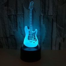 Гитара 3D ночник креативный 3 D лампа визуальное освещение для украшения комнаты рождественский подарок, новинка для малышей