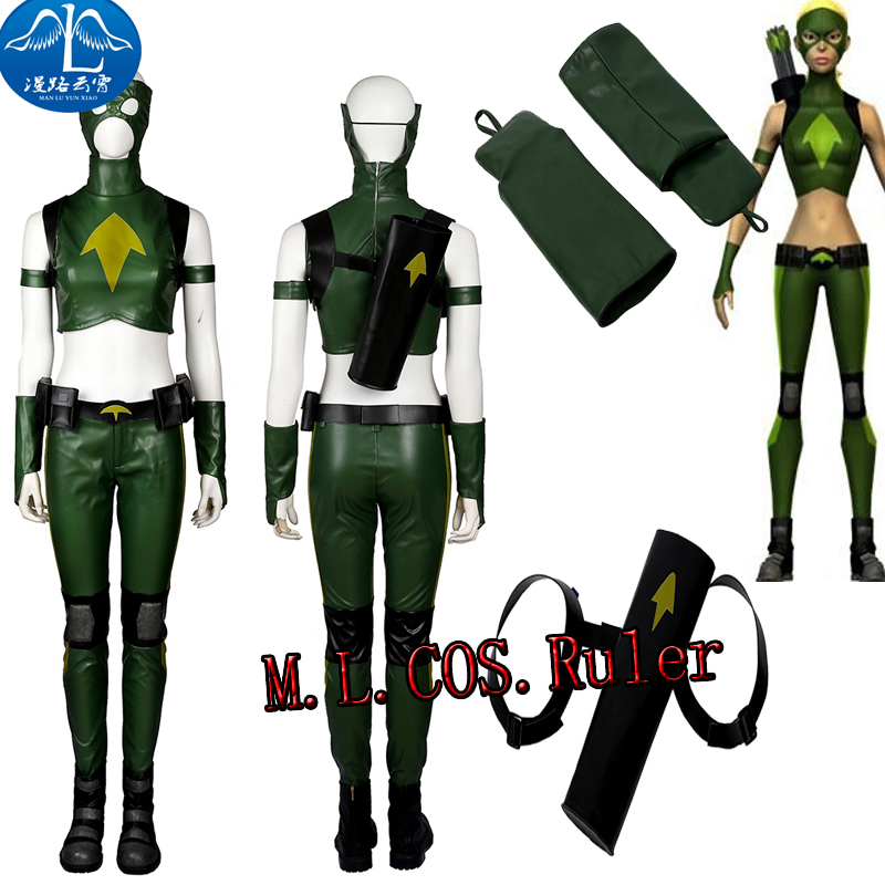 Newest Cos Young Justice Artemis Cosplay Costume Full Suit Custom Made Any Size