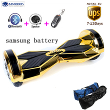8 inch hoverboard Led light self balance electric scooter skateboard Samsung battery electric unicycle standing drift  for adult