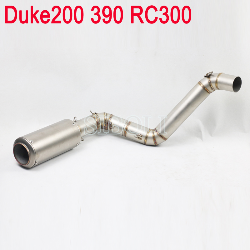 Duke 200 390 RC300 Motorcycle Full System Slip On Exhaust Pipe With SC Project Muffler For KTM Duke 200 KTM390 KTM RC300 motorcycle rear brake master cylinder reservoir cove for ktm duke 125 200 390 rc200 rc390 2012 2013 2014