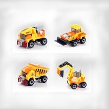 4 in 1 Power Machinery Model Building Blocks Bricks Speed Car Engine Science Popularisation educational toys
