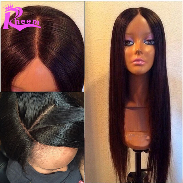 Brazilian Silk Top Full Lace Human Hair Wigs For Black Women Silky Straight Glueless Silk Base Lace Front Human Hair Wigs Cheap