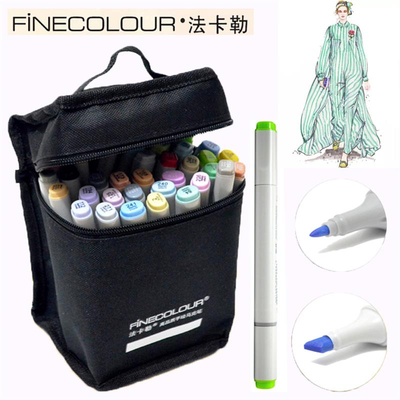 Marker Pens New Arrival Double Headed Sketch Draw Marker Set 36 48 Colors Art Markers for Design Supplies Animation Design Marks new 2pcs female right left vivid foot mannequin jewerly display model art sketch