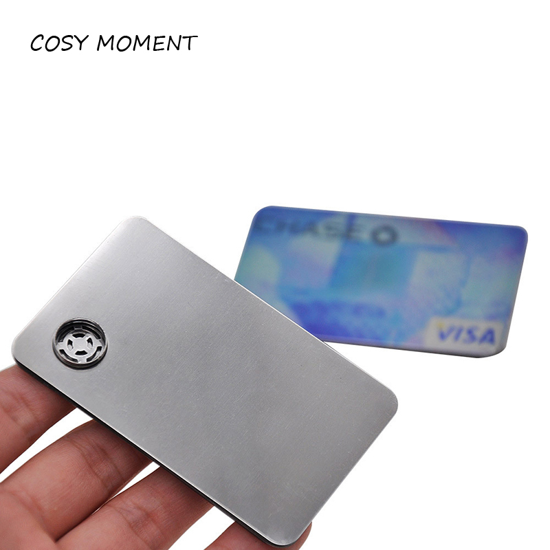 COSY MOMENT Credit Card Pipe Metal Smoking Pipe Portable Tobacco Herb Smoking Filter Accessories YJ436