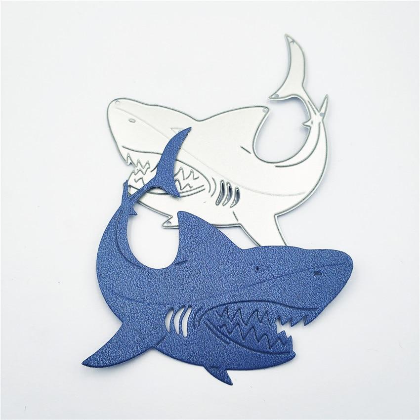 AZSG Hungry Shark Cutting Dies For DIY Scrapbooking Dies Decoretive Embossing DIY Decoative Cards Die Cutter in Cutting Dies from Home Garden