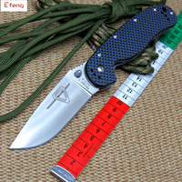 Efeng RAT Folding Blade Knife D2 Steel Blade Carbon Fiber Handle Tactical Knife R1 Survival Camping
