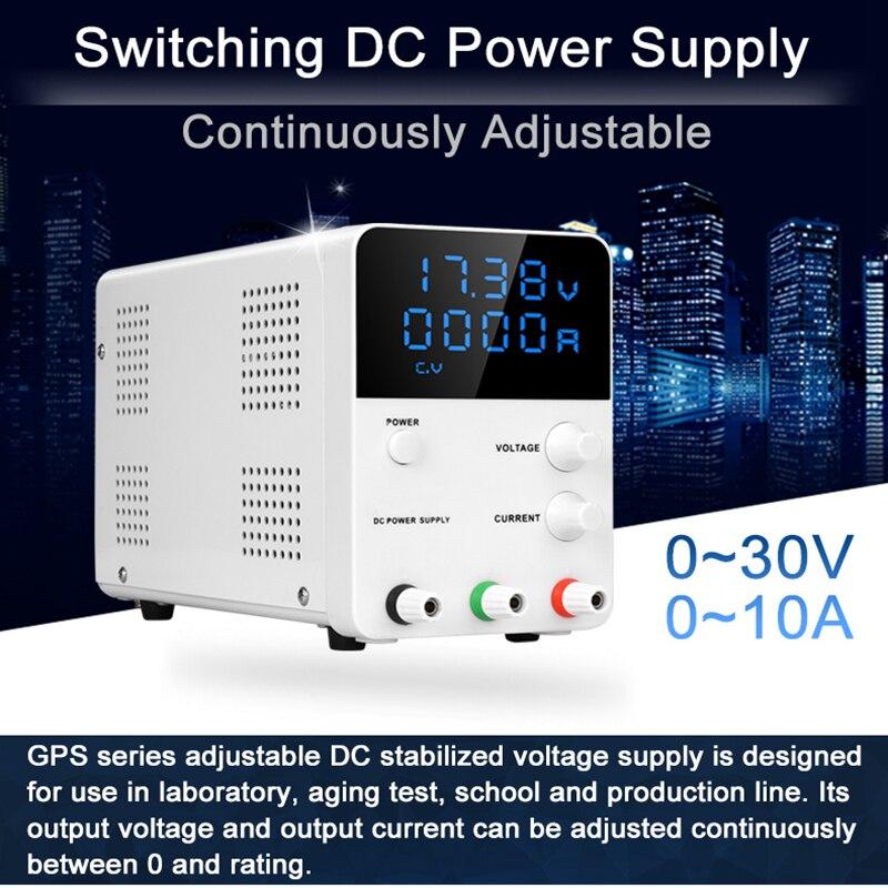 30 V 60 V 5A 10A alta precisión Digital ajustable dc fuente de alimentación GPS3010D 0.001A regulador de voltaje laboratorio dc potencia suministro de