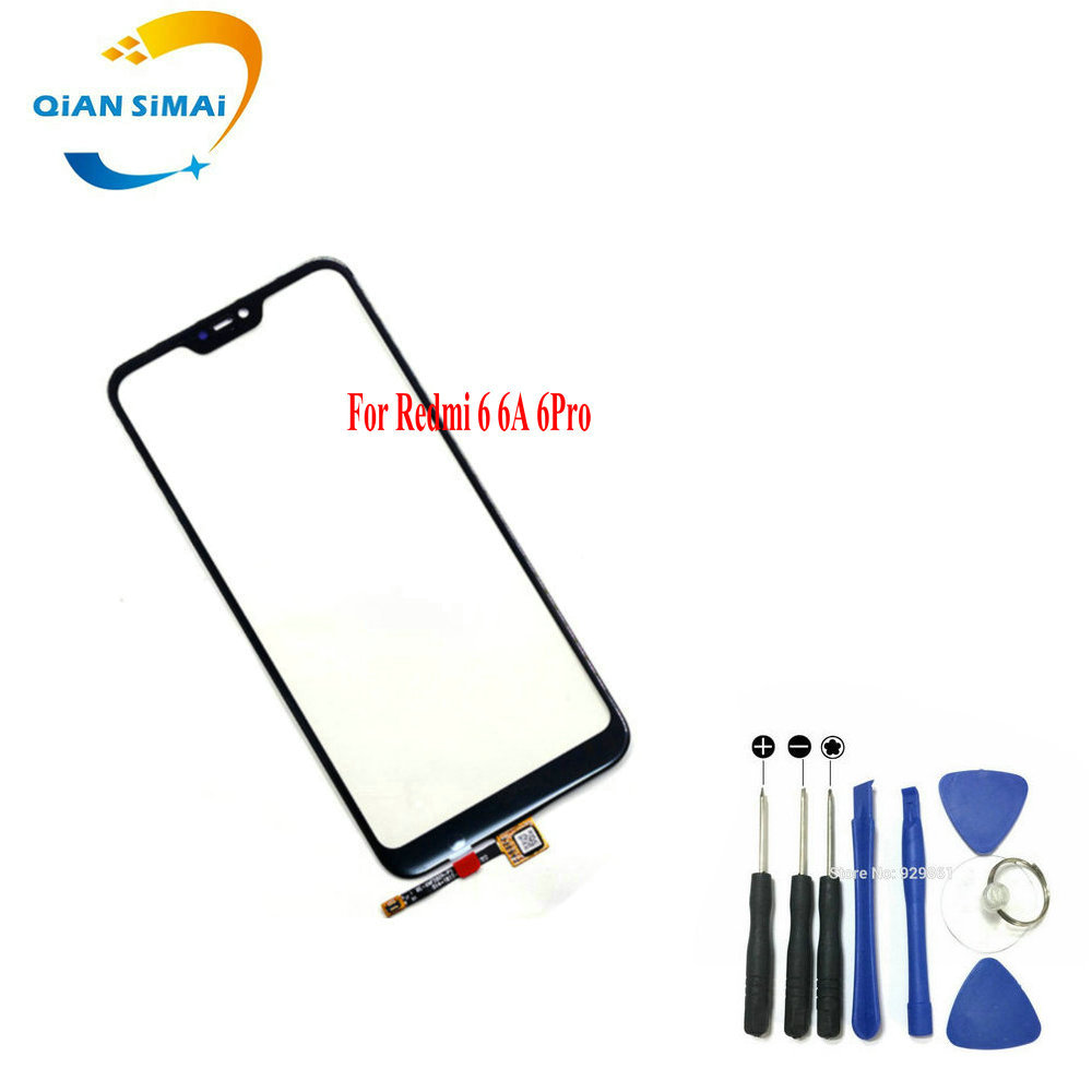 New Touch Screen Digitizer glass & Screwdriver Tools Repair For Xiaomi redmi 6 6A 6Pro Mobile Phone + tracking number