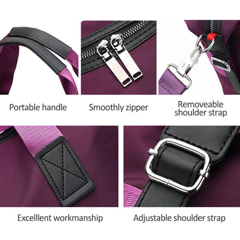 Bolsa de viaje de gran capacidad de moda para mujer bolsa de fin de semana bolsa de lona grande bolsa de viaje de noche XA633WB