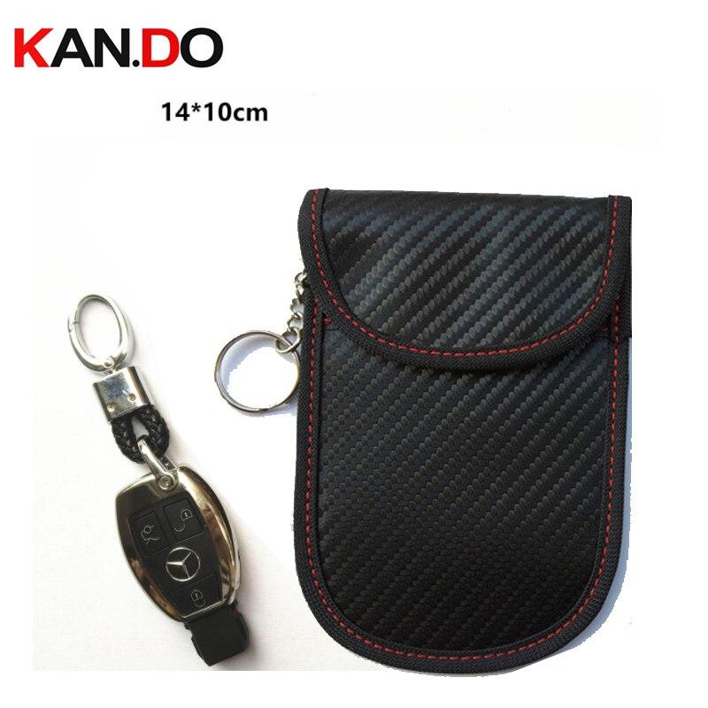 14x10cm Car Key Jammer Bag Card Anti-Scan Sleeve Bag Phone Signal Blocker Protection Jammer Remote Car Key Jammer Bag