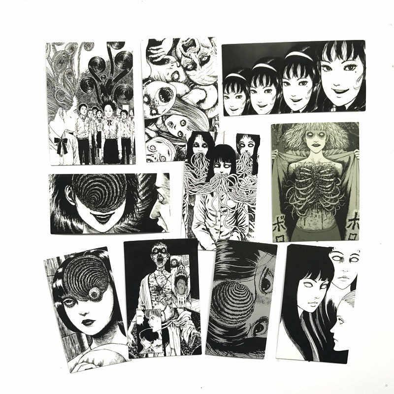 10 pçs/lote black & white Japonês adesivos romance de horror skate decalque Notebook Mesa de caixa do trole mochila PVC adesivo de carro DIY