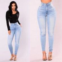 575ace0ff10f0 Nouveaux arrivants mode chaud femmes dame Denim Skinny pantalon taille  haute Stretch Jeans Slim crayon Jeans femmes Jeans décont.