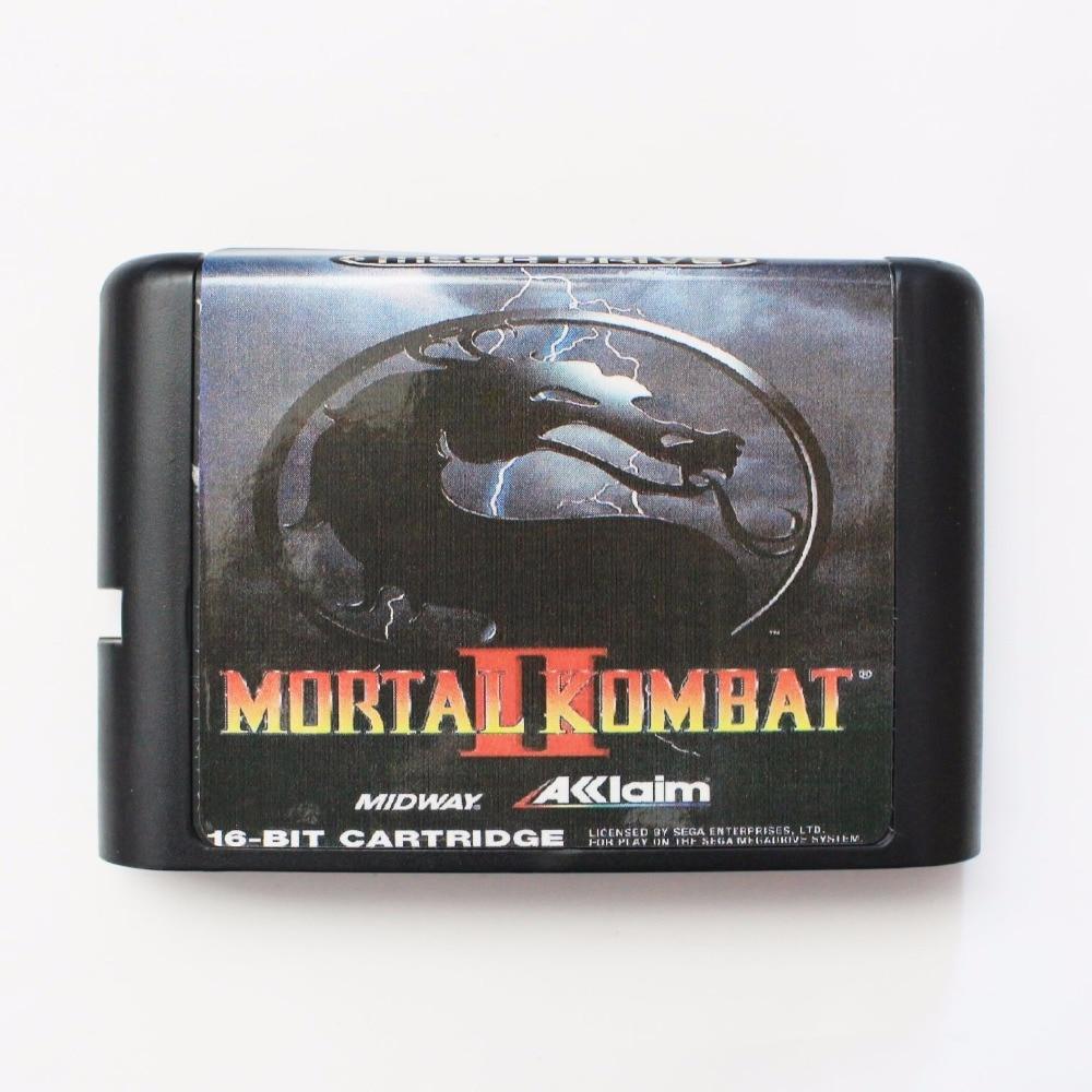 Mortal Kombat 2 16 Bit SEGA MD Game Card For Sega Mega Drive For Genesis