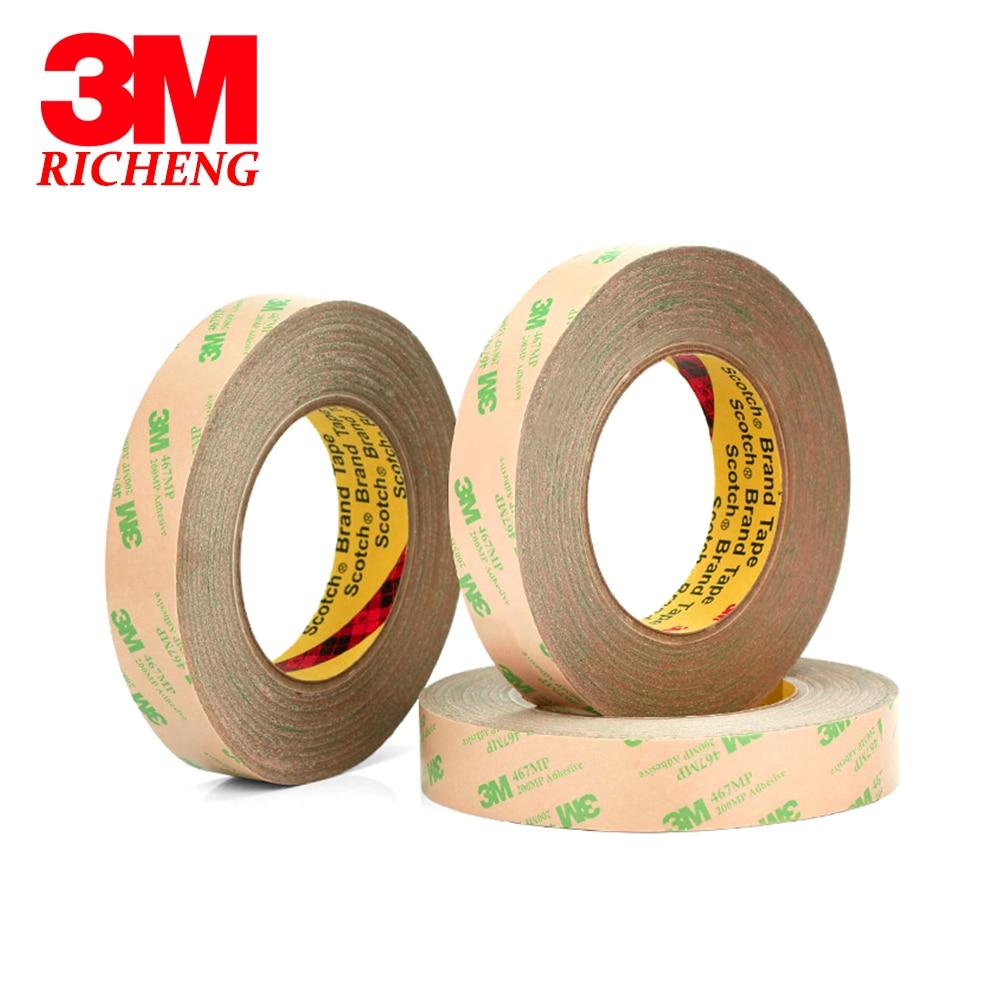 0.05mm (grueso) 20mm * 55 m 3 M 467MP 200MP adhesiva doble cara Cintas alta temperatura resistencia de almohadilla térmica pantalla del teléfono