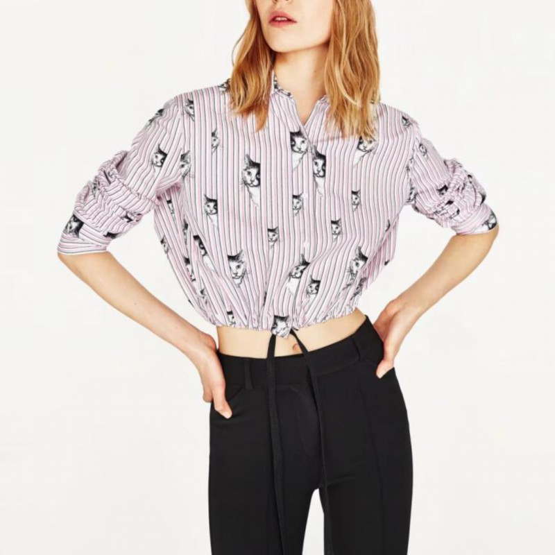 Buy LANZOOM Summer Women casual long sleeve blouse shirt short